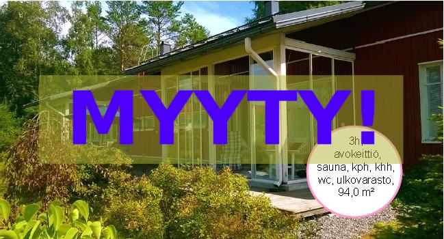 MYYTY! Paritalo (as. oy) Letku, 94m2, rv. 2008 – 148000€