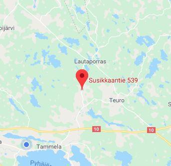 Myydään: Tontti n. 2000m2, Susikas. Rakentamaton tontti purkukuntoisia rakennuksia.
