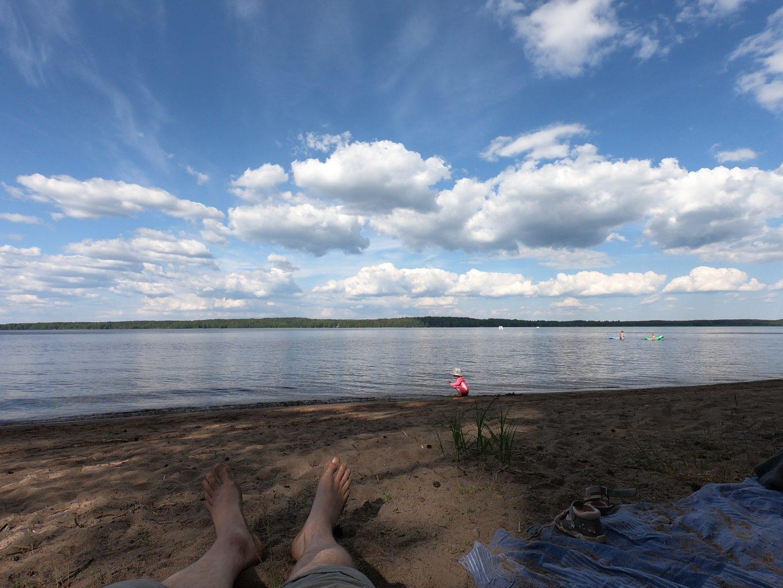 Kuivajärven hiekkaranta, Saaren kansanpuisto