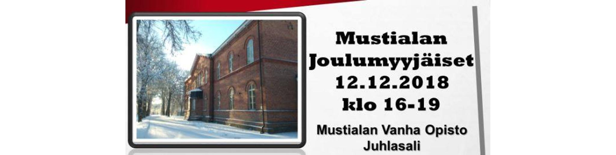 Tervetuloa Mustialan perinteisiin Joulumyyjäisiin 12.12.2018, klo. 16-19!