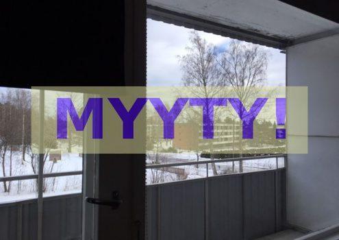Myydään: Osakehuoneisto, Kirkkoahteentie 1B, 31300 Tammela, Suomi.